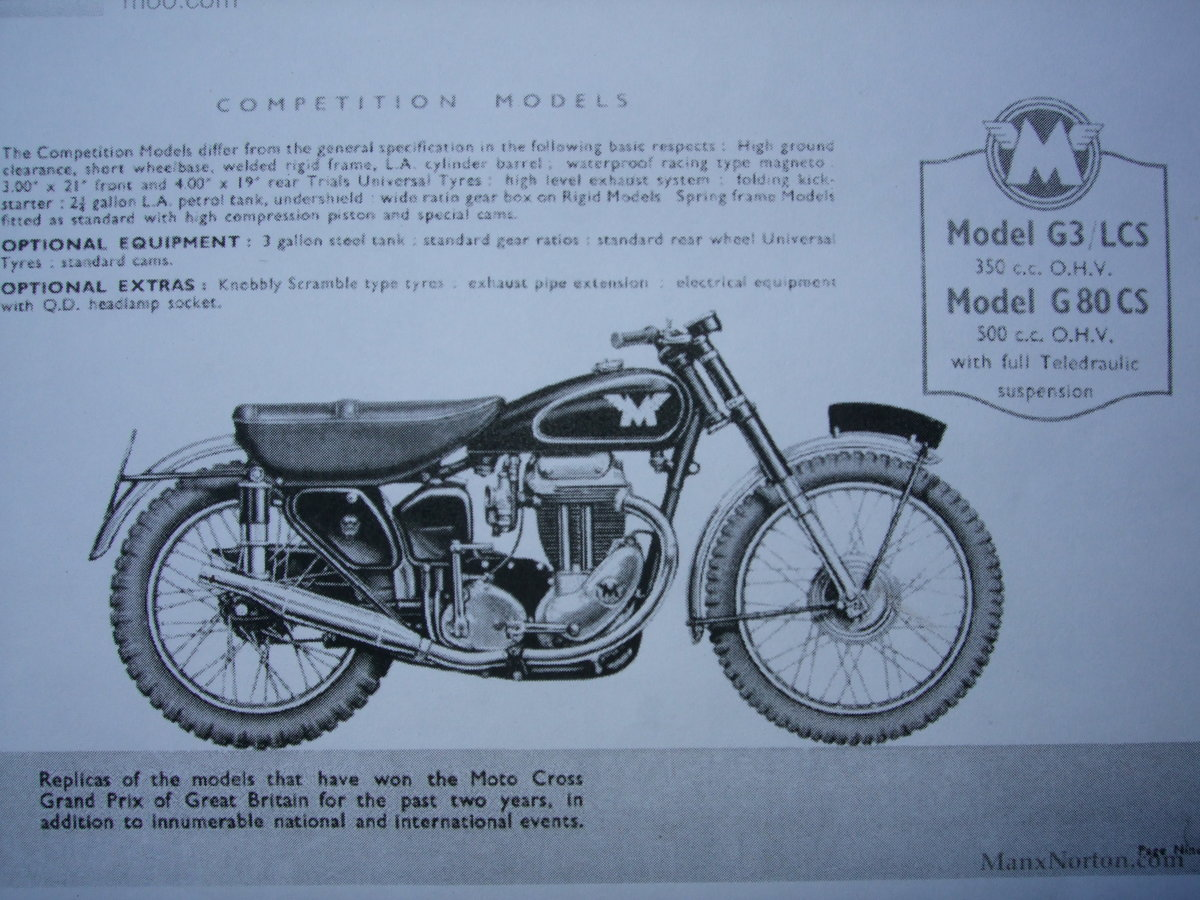 1954 Matchless 500cs competition For Sale (picture 6 of 6)