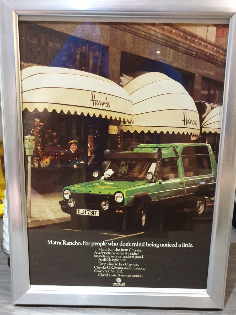 1979 Original Matra Rancho Advert For Sale (picture 1 of 2)