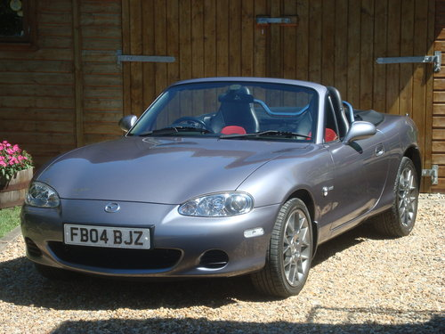 2004 Mazda MX5 1.8i Euphonic, 15295 miles from new. For Sale (picture 1 of 6)