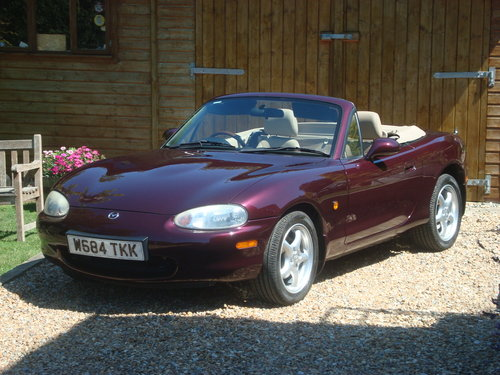 2000 Mazda MX5 1.8i Icon  41000 miles from new For Sale (picture 1 of 6)