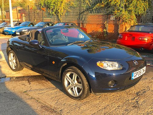 2008 Mazda MX-5 Mk3 1.8 in Stormy Blue Metallic For Sale (picture 2 of 6)