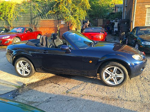 2008 Mazda MX-5 Mk3 1.8 in Stormy Blue Metallic For Sale (picture 4 of 6)