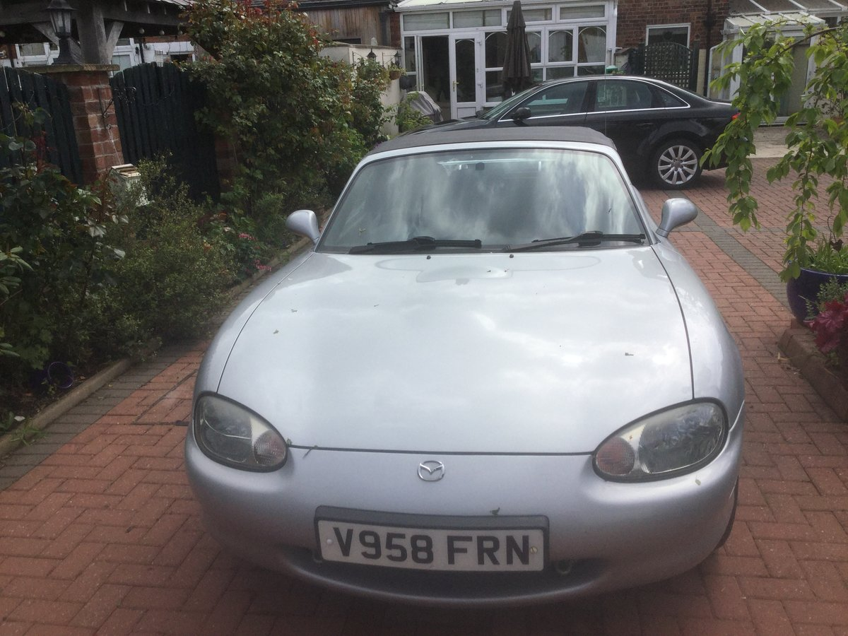 2000 Silver MX-5 convertible 1.6 Petrol For Sale (picture 1 of 3)