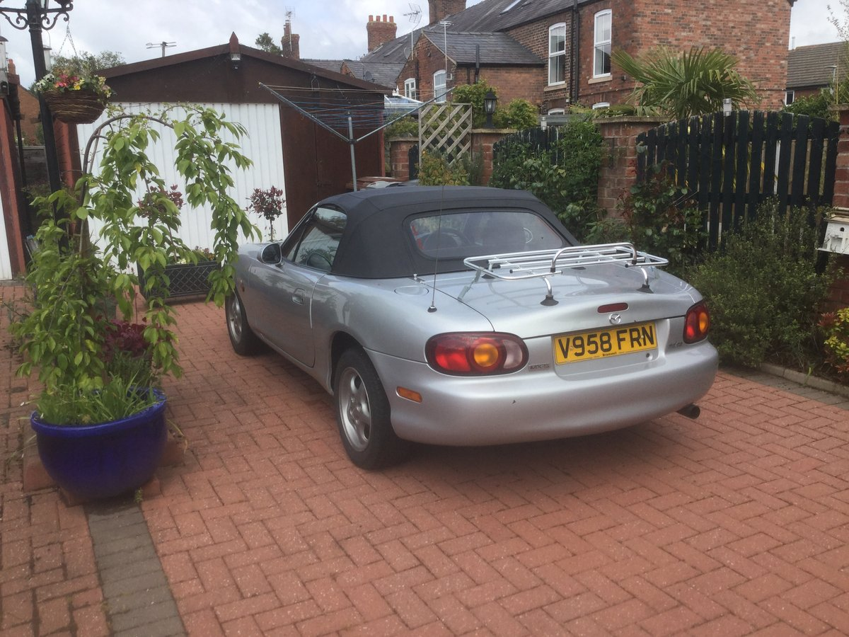 2000 Silver MX-5 convertible 1.6 Petrol For Sale (picture 3 of 3)