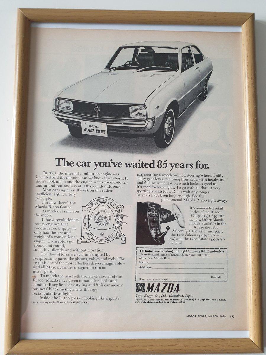 Original 1970 Mazda R100 Advert SOLD (picture 1 of 1)