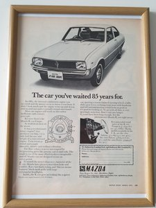Original 1970 Mazda R100 Advert