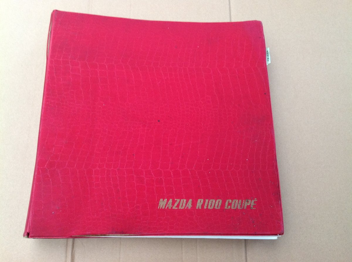 Mazda R100 Coupe parts catalogue  For Sale (picture 1 of 5)