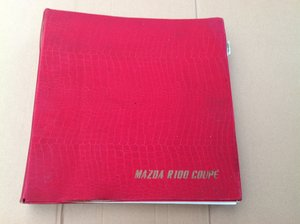 Mazda R100 Coupe parts catalogue  For Sale