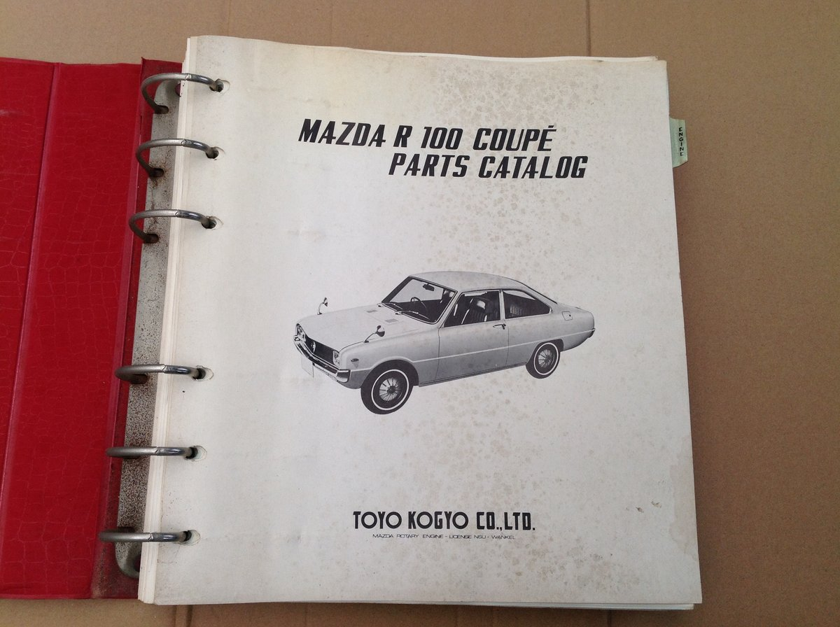 Mazda R100 Coupe parts catalogue  For Sale (picture 2 of 5)
