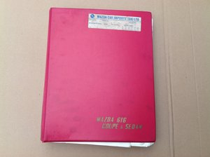 Mazda 616 parts catalogue  For Sale