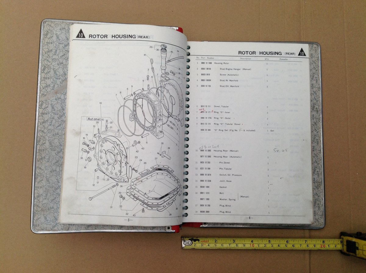 Mazda RX3 factory parts book  For Sale (picture 3 of 6)