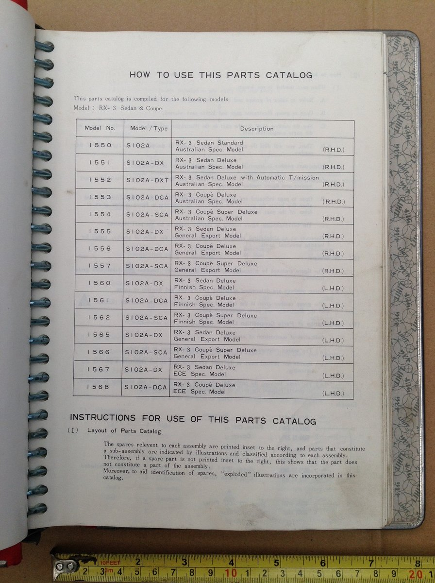 Mazda RX3 factory parts book  For Sale (picture 4 of 6)