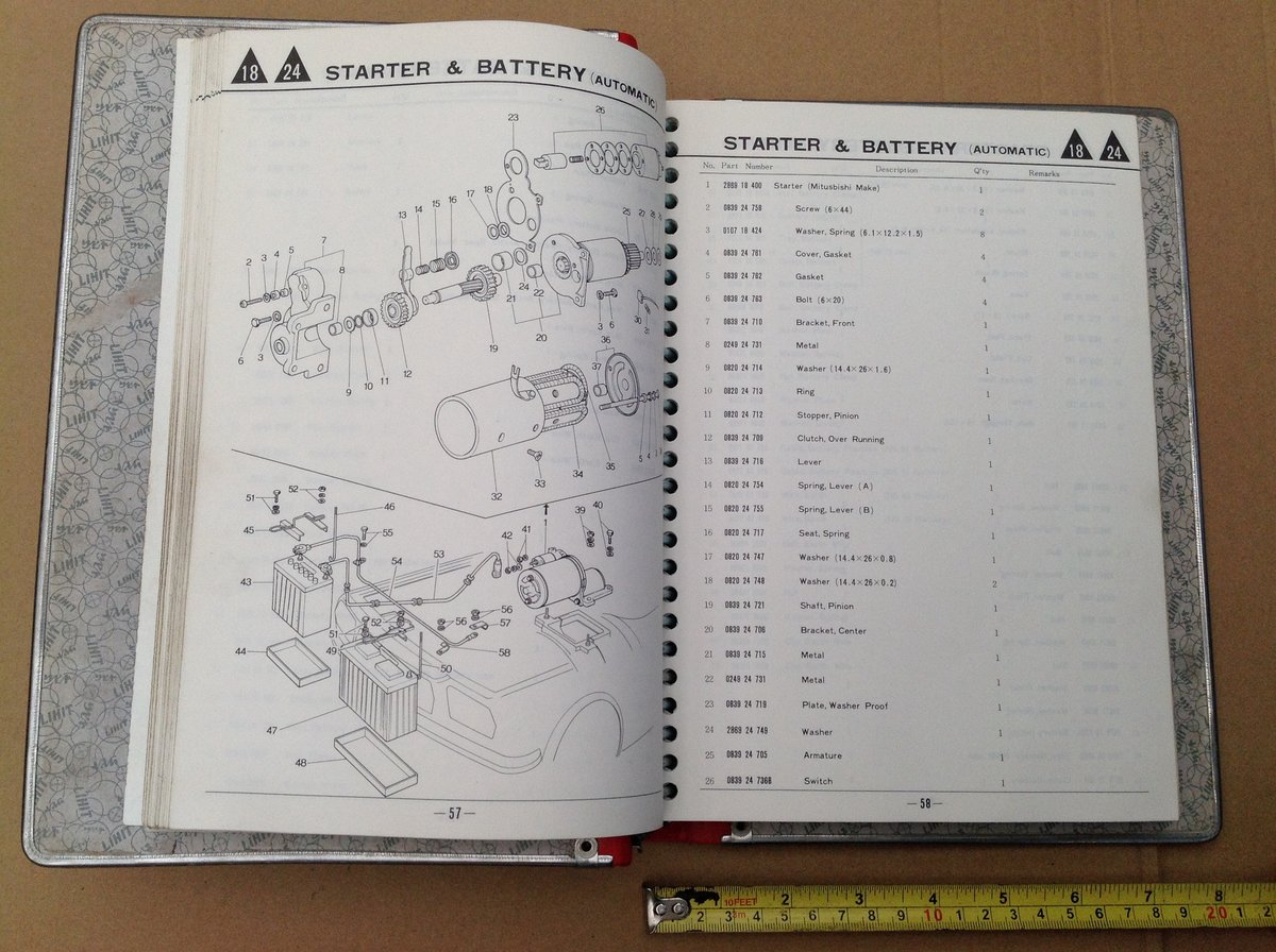 Mazda RX3 factory parts book  For Sale (picture 5 of 6)