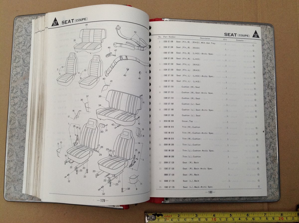Mazda RX3 factory parts book  For Sale (picture 6 of 6)