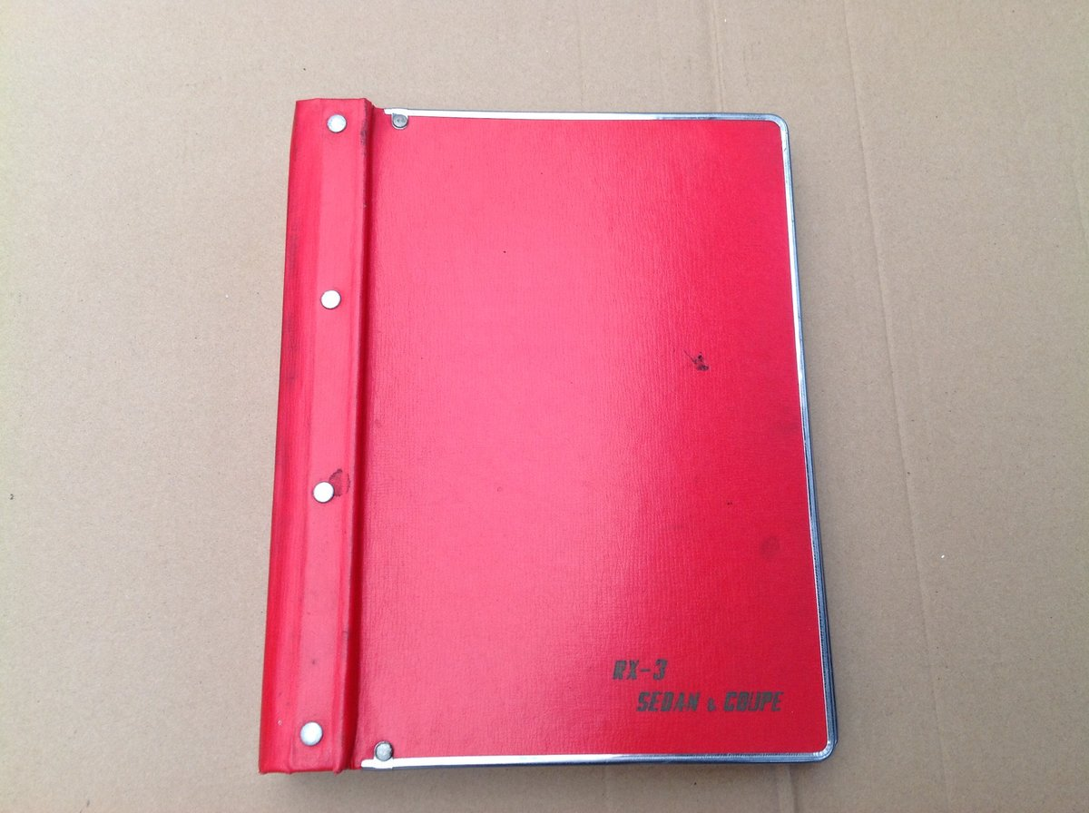 Mazda RX3 factory parts book  For Sale (picture 1 of 6)