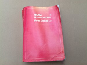 Mazda RX2 & 616 Parts Catalogue For Sale