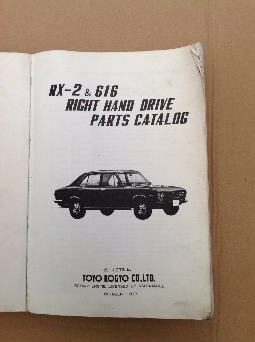 Mazda RX2 & 616 Parts Catalogue For Sale (picture 2 of 6)