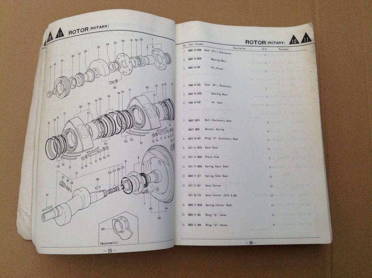 Mazda RX2 & 616 Parts Catalogue For Sale (picture 4 of 6)