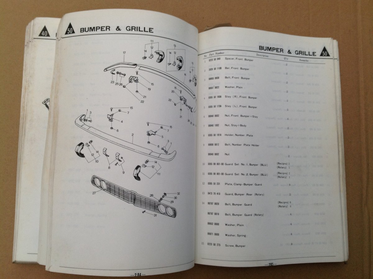 Mazda RX2 & 616 Parts Catalogue For Sale (picture 6 of 6)