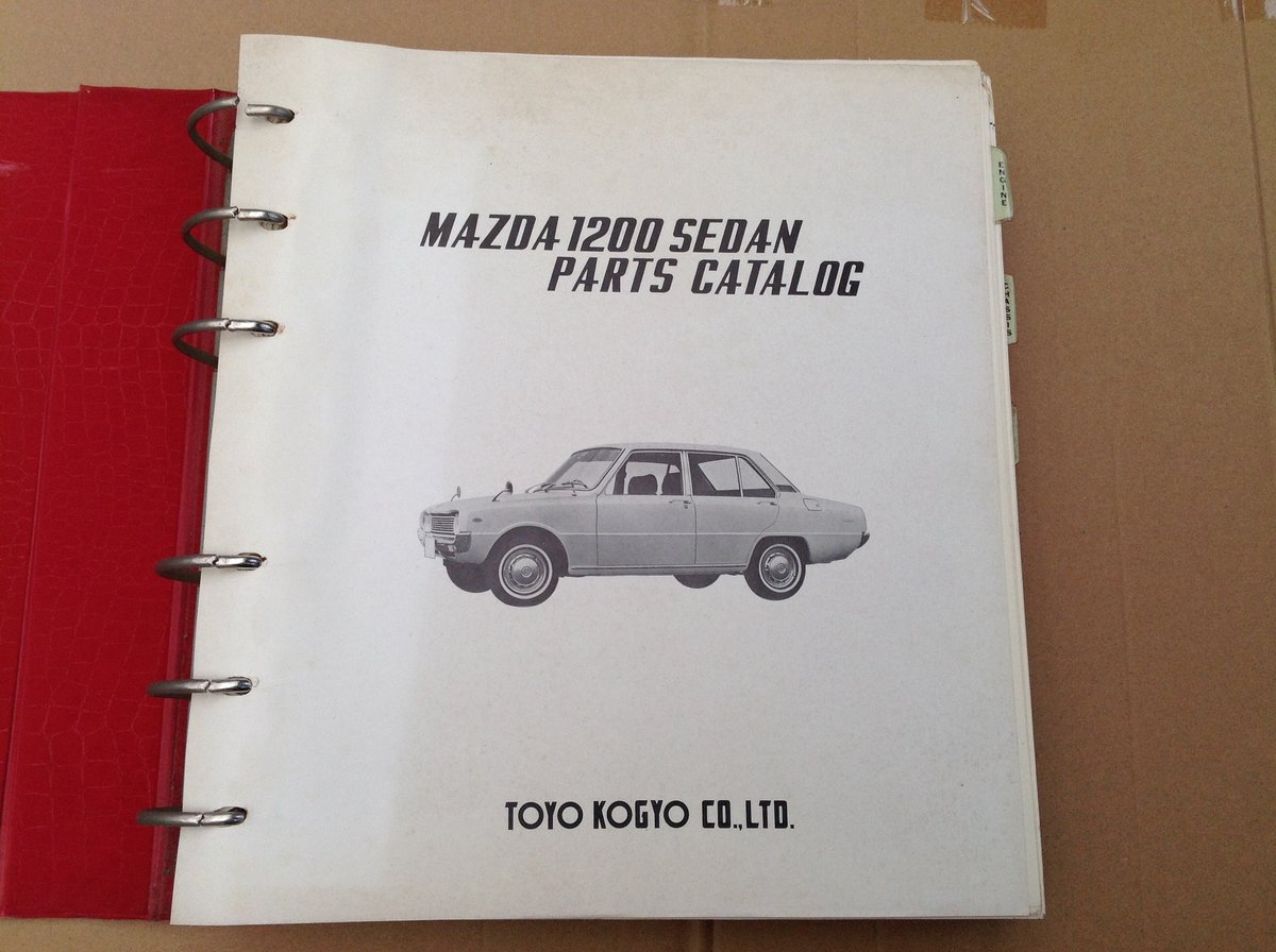 Mazda 1200 Saloon Parts Catalogue For Sale (picture 2 of 6)