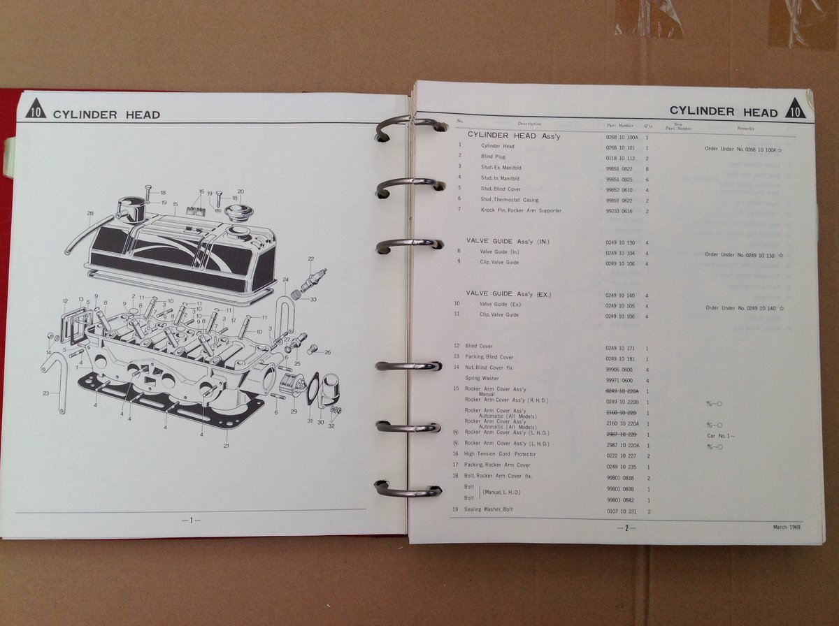 Mazda 1200 Saloon Parts Catalogue For Sale (picture 4 of 6)