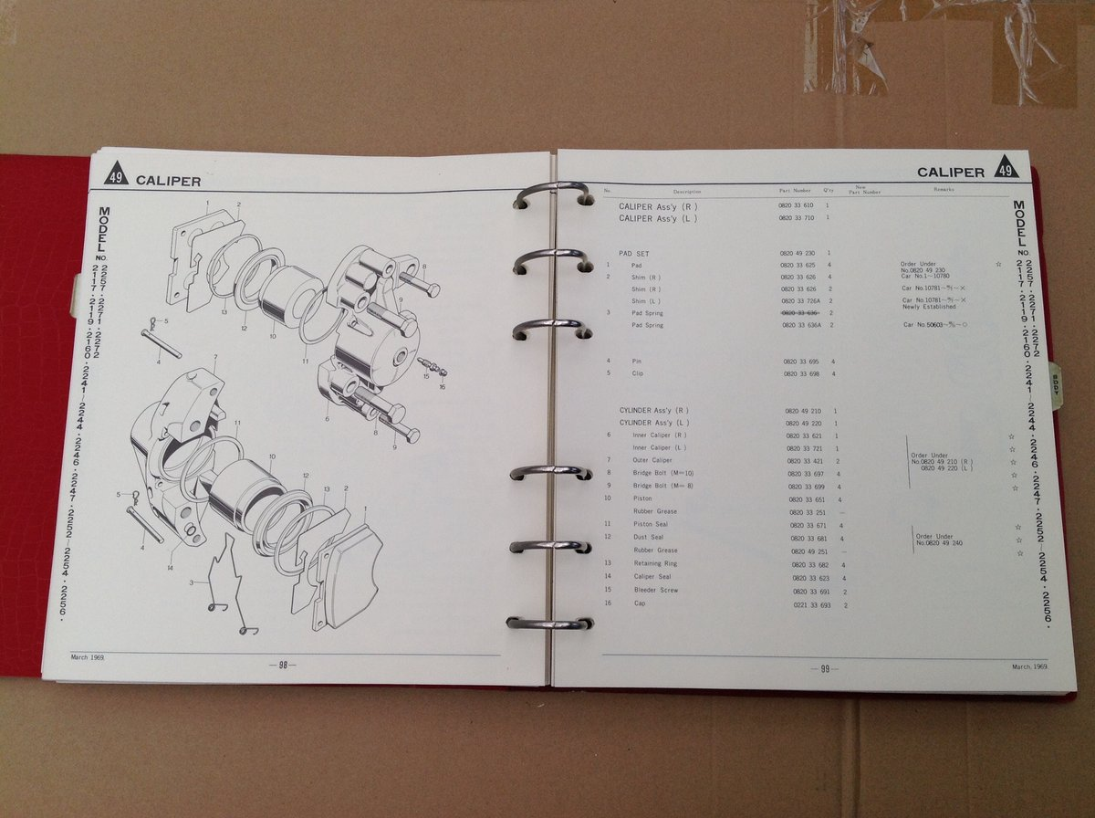 Mazda 1200 Saloon Parts Catalogue For Sale (picture 5 of 6)