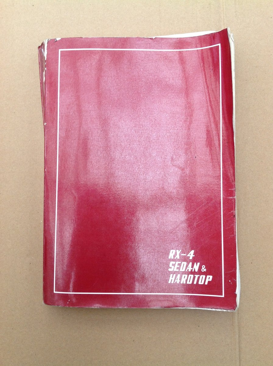 Mazda RX4 Parts Catalogue For Sale (picture 1 of 6)