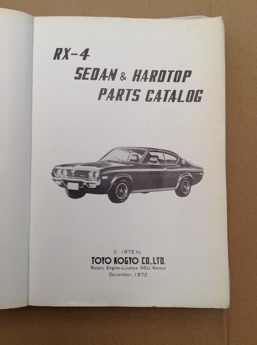 Mazda RX4 Parts Catalogue For Sale (picture 2 of 6)