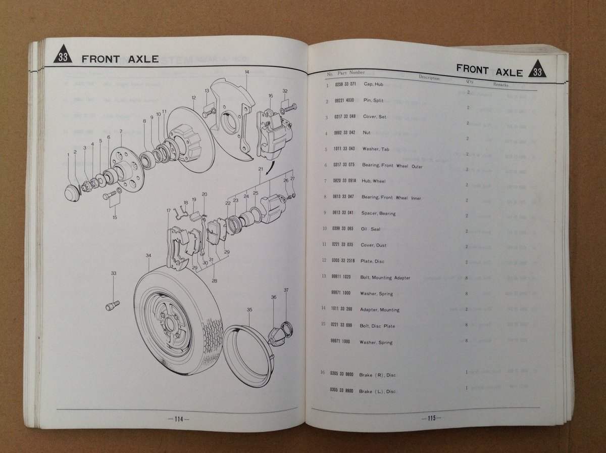 Mazda RX4 Parts Catalogue For Sale (picture 5 of 6)