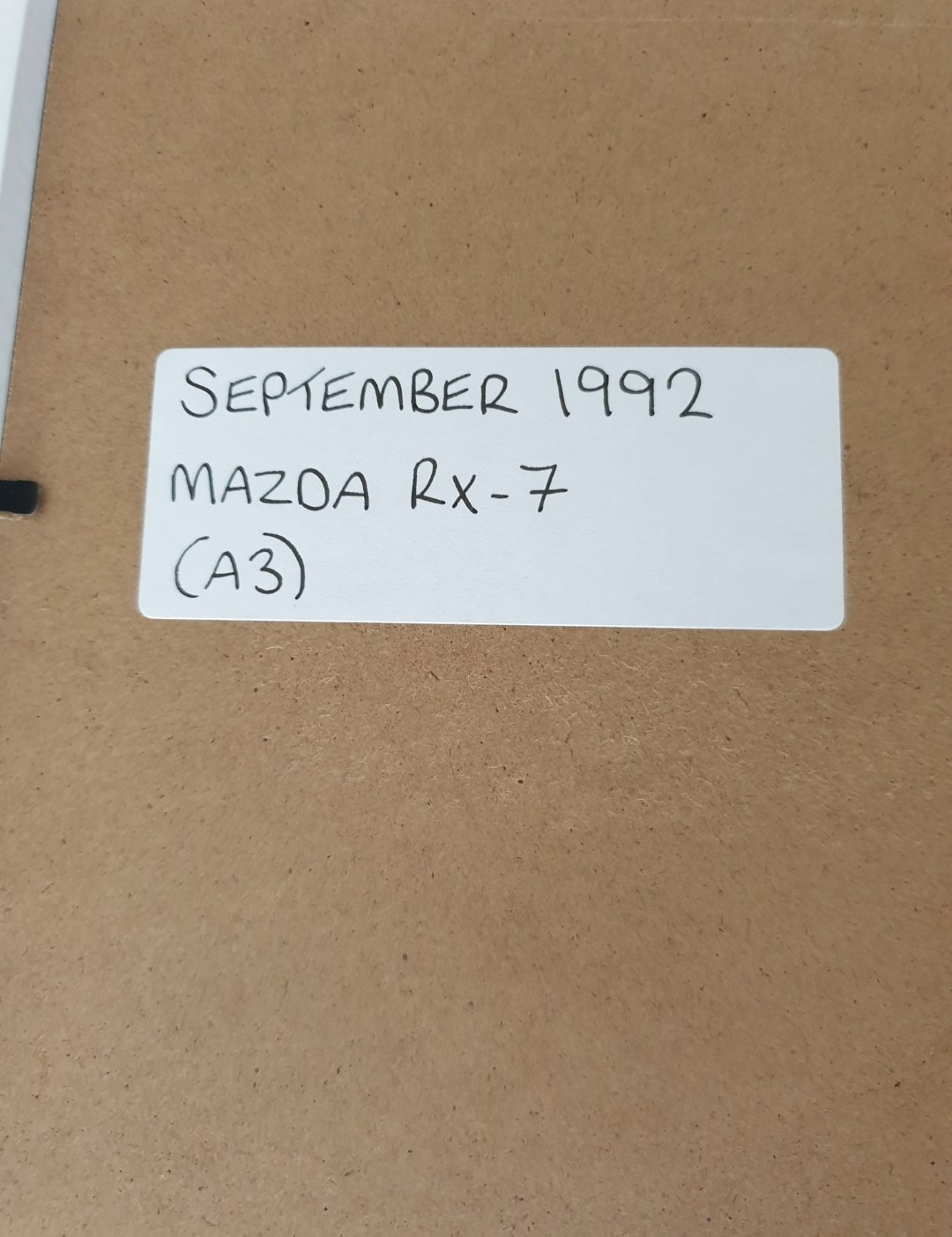 1992 Original Mazda RX-7 Framed Advert For Sale (picture 2 of 2)