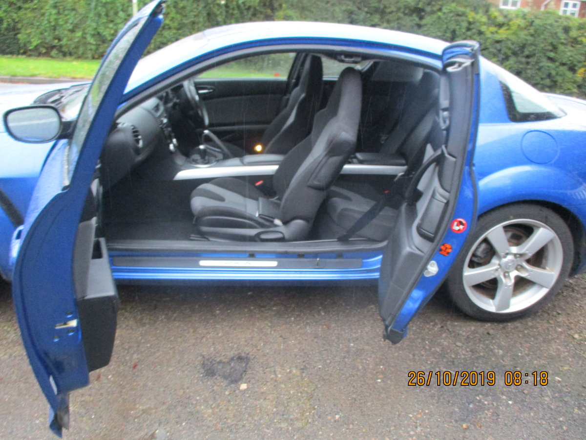 2004 RX 8 ROTAY IN A STRIKING METALLIC BLUE JUST 55K FROM NEW FSH For Sale (picture 5 of 6)