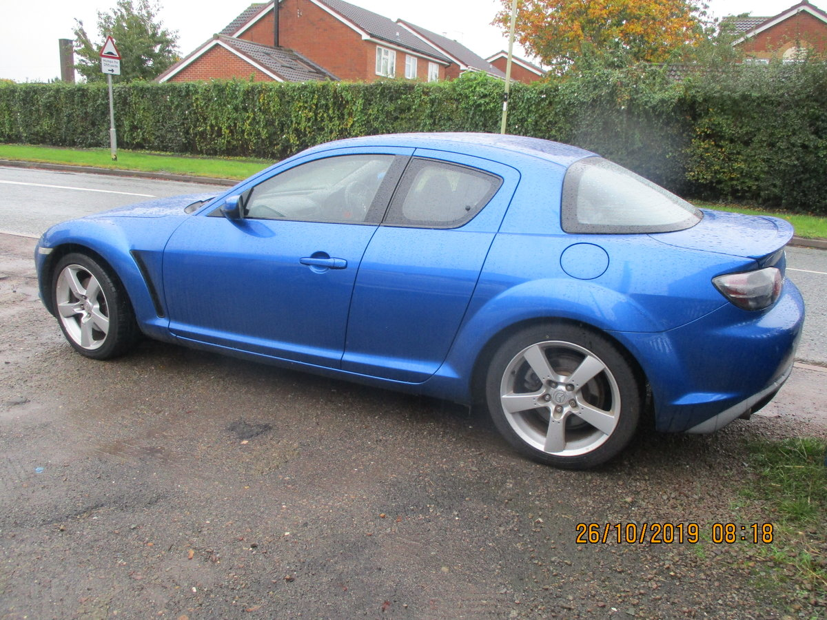 2004 RX 8 ROTAY IN A STRIKING METALLIC BLUE JUST 55K FROM NEW FSH For Sale (picture 6 of 6)