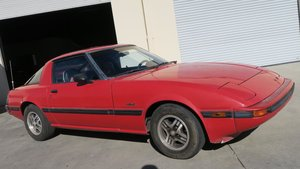 1983 Mazda RX-7 Coupe AUTO Red AC + Spare Parts $4.5K For Sale