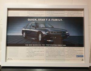 Mazda 626 Framed Advert Original