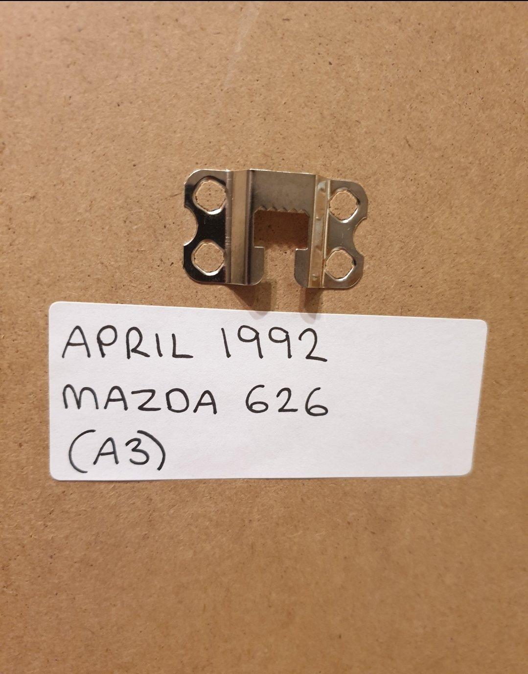 1992 Mazda 626 Framed Advert Original  For Sale (picture 2 of 3)