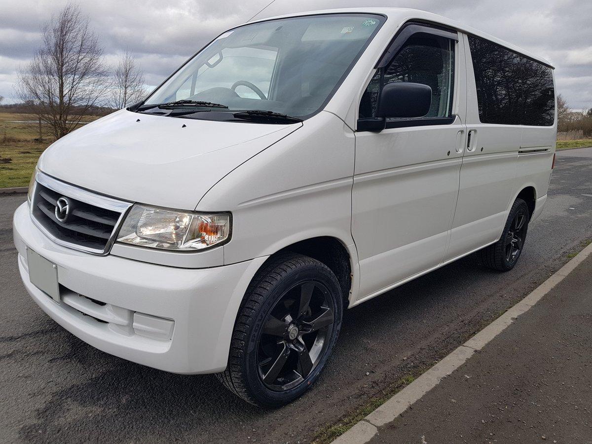 2003 Mazda bongo campervan 3 berth 6 seat,kitchen 21k For Sale (picture 1 of 6)
