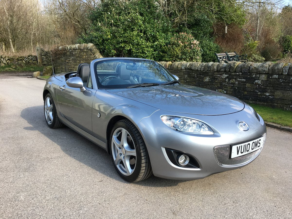 2010 MAZDA MX-5 SPORT TECH CONVERTIBLE 6 SPEED FSH LEATHER TRIM For Sale (picture 1 of 6)