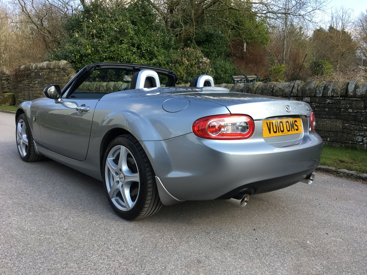 2010 MAZDA MX-5 SPORT TECH CONVERTIBLE 6 SPEED FSH LEATHER TRIM For Sale (picture 2 of 6)