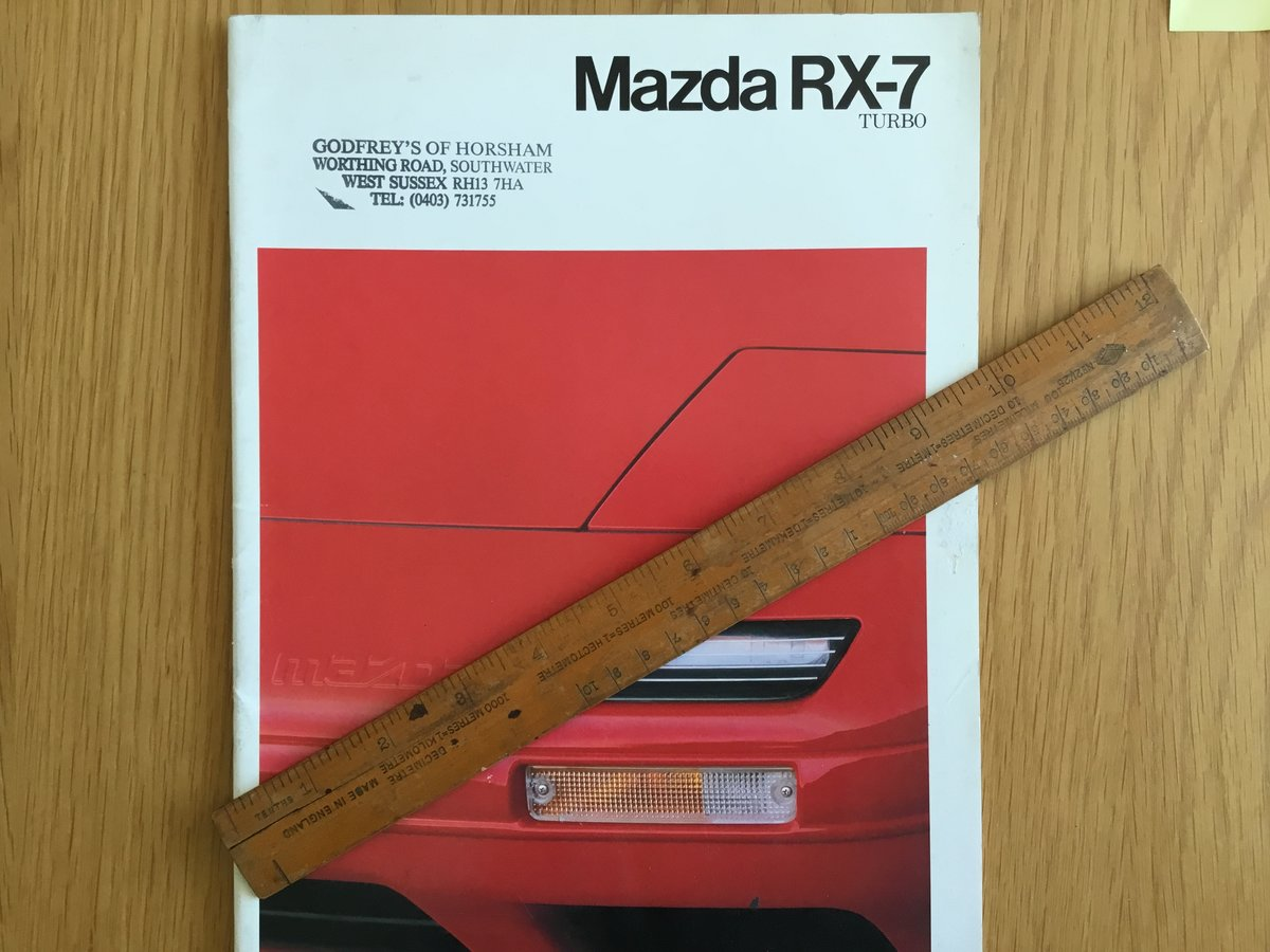 1990 Mazda RX7 Turbo Brochure For Sale (picture 1 of 2)