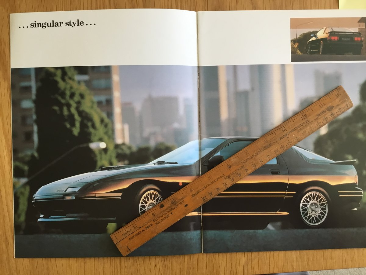 1990 Mazda RX7 Turbo Brochure For Sale (picture 2 of 2)