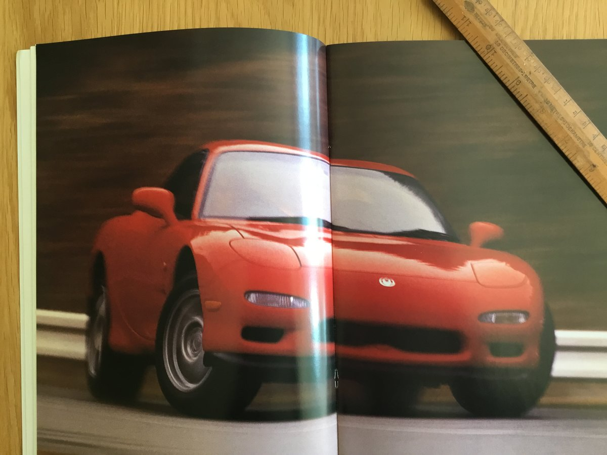 1993 Mazda Rx 7 brochure SOLD (picture 2 of 2)