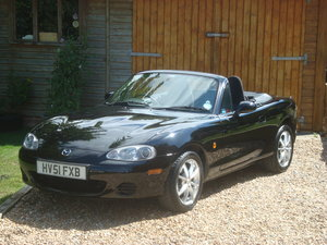 Mazda MX5 1.8i. 2001. Low mileage, well cared for example.