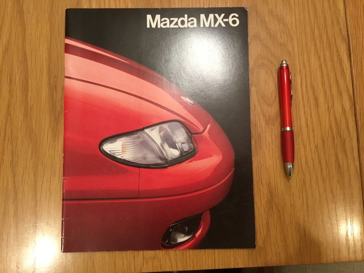 1992 Mazda MX-6 brochure For Sale (picture 1 of 1)