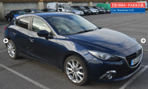 2015 Mazda 3 Sport Nav D 64,145 for auction 25th