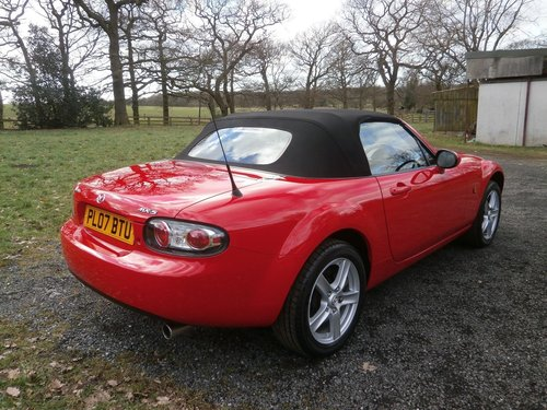 2007 MAZDA MX5 1.8 MK3 TRUE RED JUST 7,572 MILES *STUNNING* SOLD (picture 3 of 6)