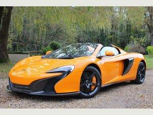 2015 McLaren 650S 3.8 V8 Spider SSG 2dr MCLAREN WARRANTY, FMSH! For Sale