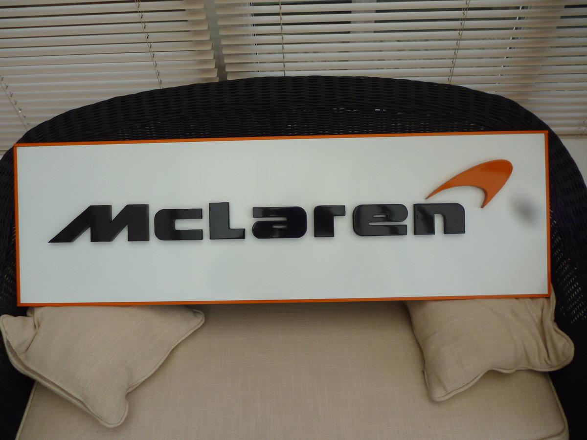 McLaren 3D Sign
