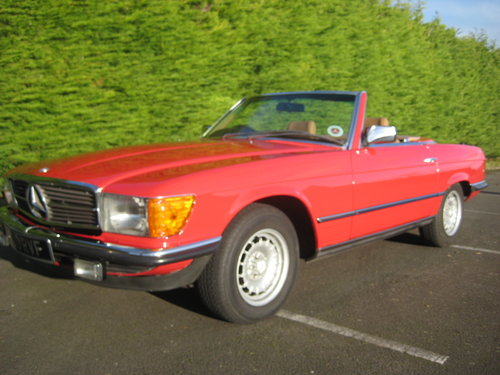 1982 Mercedes Benz 280SL 96,000 miles Signal Red. For Sale (picture 1 of 6)