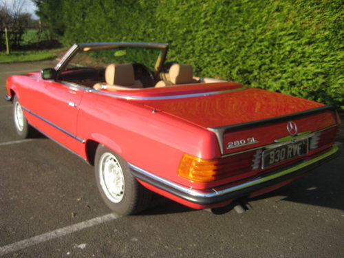 1982 Mercedes Benz 280SL 96,000 miles Signal Red. For Sale (picture 2 of 6)