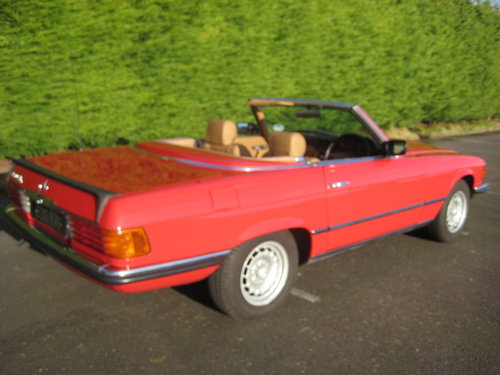 1982 Mercedes Benz 280SL 96,000 miles Signal Red. For Sale (picture 3 of 6)